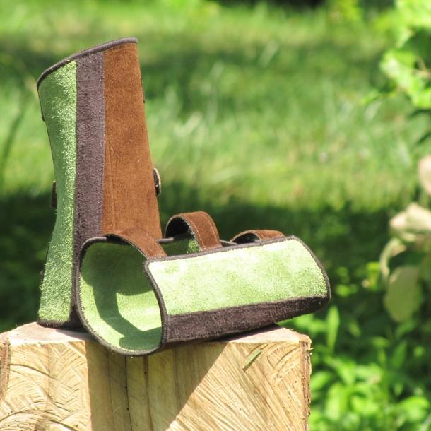 Mind-Factor Armschutz braun mit apfelgrün