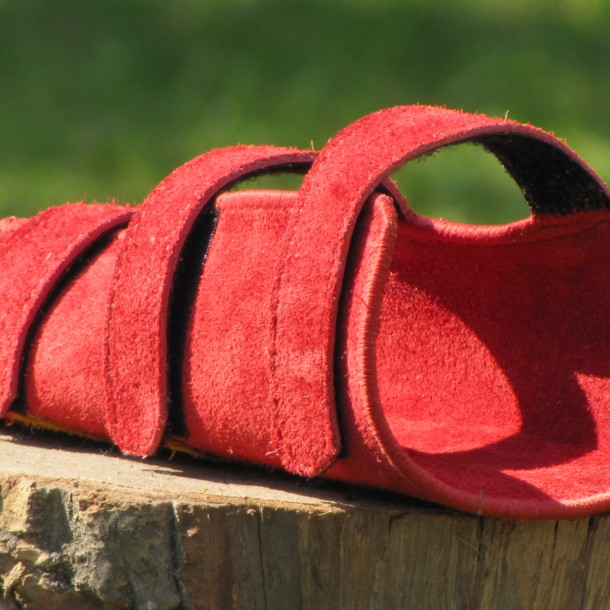 Mind-Factor Armschutz rot-rot-Wildleder