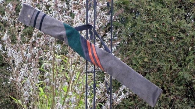 Mind-Factgor Bogentasche Recurve Schrägstreifen in grau grün orange schwarz